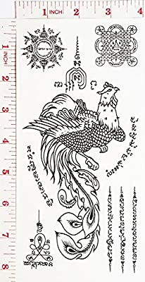 Thai Amulet Sak Yant Magical Temporary Waterproof Tattoo Art Body Stickers Removable Fashion Henna Tattoo Inspired Sticker Gifts by Magic movement