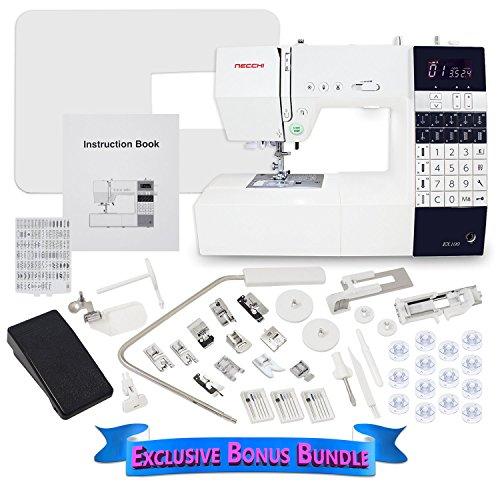 Necchi EX100 Computerized Sewing Machine with Exclusive Bonus Bundle (Necchi Sewing Machine Zipper Foot compare prices)
