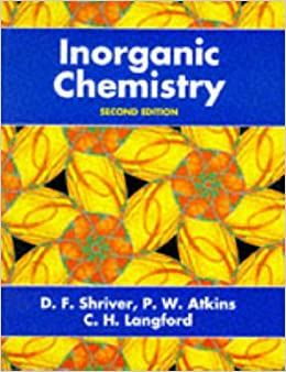shriver and atkins inorganic chemistry 3rd edition pdf