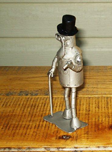 [Bender Futurama, Bender Costume, Monocular, Metal Cigarette, Welded Metal Sculpture Art, Cylinder Hat, Odd Future, Futuristic] (Futurama Leela Costumes)
