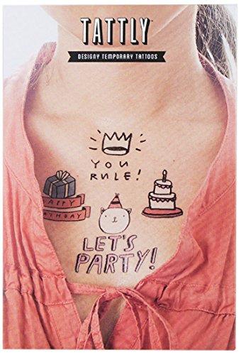 Tattly Temporary Tattoos Birthday Set(Discontinued) - 1