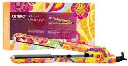 Amika 1.25 Inch Ceramic Styler, Obliphica (Flat Iron Amika compare prices)