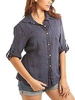Maison du Lin Camisa Mujer E17 Athenes R (Azul)
