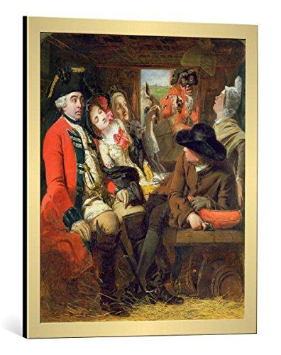 framed-art-print-william-powell-frith-a-stagecoach-adventure-bagshot-heath-1848-decorative-fine-art-