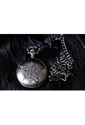 Black Butler/ Kuroshitsuji Sebastian dark grey Pocket Watch