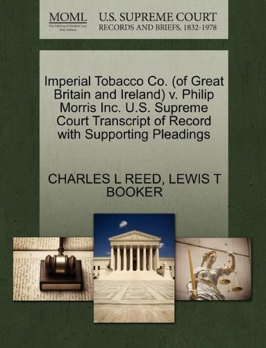 imperial-tobacco-co-of-great-britain-and-ireland-v-philip-morris-inc-us-supreme-court-transcript-of-