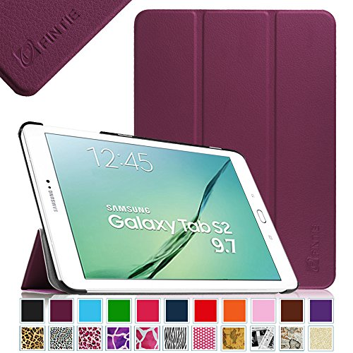 Fintie Samsung Galaxy Tab S2 9.7 Smart Shell Case - Ultra Slim Lightweight Stand Cover with Auto Sleep/Wake Feature for Samsung Galaxy Tab S2 Tablet (9.7 Wi-Fi SM-T810 / LTE SM-T815), Purple