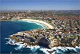 Poster 60 x 40 cm: Aerial shot of Bondi Beach by David Wall / Danita Delimont - high quality art print, new art poster