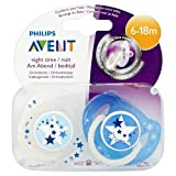 Philips Avent Soothers 6-18 Months Night Time Pacifiers