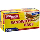 Pro Pack Sandwich Bags, 300 Count