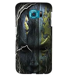 PrintVisa Modern Art Tree Face 3D Hard Polycarbonate Designer Back Case Cover for Samsung Galaxy S6 Edge+ Plus