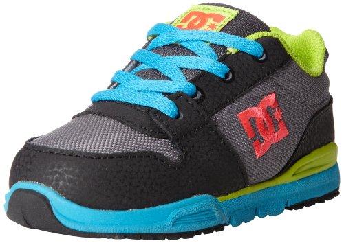 Dc Footwear Kids Alias Lite Skate Sneaker (Toddler),Grey/Lime Green,7 M Us Toddler