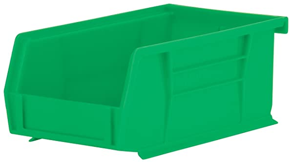 Akro-Mils 30220 Plastic Storage Stacking Hanging Akro Bin, 7-Inch by 4-Inch by 3-Inch, Green, Case of 24 (Color: Green, Tamaño: 7-Inch by 4-Inch by 3-Inch)