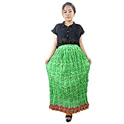 ShopMore Green Skirt(Green_Free-Size)