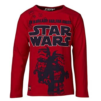 LEGO Wear Sweatshirt   Col ras du cou Manches longues Garon - Rouge - Rot (352 RED) - FR : 6 ans (Taille fabricant : 116)