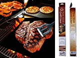Premium BBQ Grill Mat Eliminate Food Waste Protects Your Grill Anything - Grill Eggs Pancakes Fish Bacon and Hash Browns Dishwasher Microwave Safe 500 Degrees Fahrenheit Pan Liner Baking Sheet Drip Catcher Microwaveable Liner