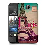 Head Case Designs Eiffel Tower Paris France Best of Places Vintage Postcards Protective Snap-on Hard Back Case Cover for HTC Desire 300
