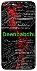 Deenbabdhu (Brother ( Or Helper) Of Poor People) Name & Sign Printed All over customize & Personalized!! Protective back cover for your Smart Phone : Apple iPhone 6-Plus