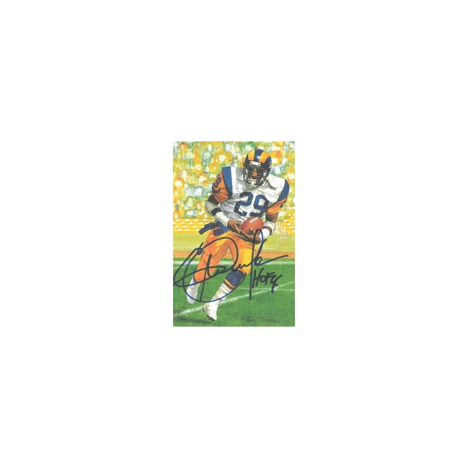 Eric Dickerson Signed Los Angeles Rams Goal Line Art