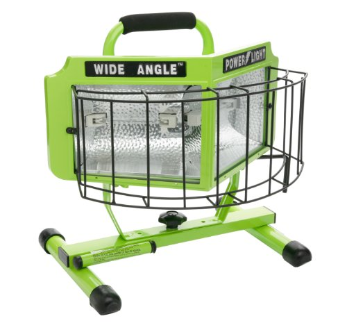 Designers Edge L-5203 1000-Watt Double Bulb Halogen 160-Degree Wide Angle Surround Portable Worklight, Green