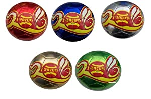 Soccer Ball 5 Pack Mini Size 2 Red blue green silver gold by Cnt