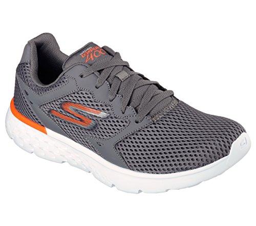 Skechers Performance Men's Go Run 400 Running Shoe, Charcoal/Orange, 8.5 M US