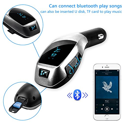 NUTK-Car-Kit-MP3-Player-Wireless-Bluetooth-FM-Transmitter-Radio-Adapter-Car-Charger-with-USB-SD-Card-Reader-and-Calling-Remote-Control-for-Ipad-Ipod-Smart-phones