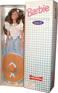 Barbie 1995 Series II Collector's Edition 12 Inch Doll - Barbie as Little Debbie Snacks' Girl with Dress, Sash, Shoes, Hair Ribbon, Hat, Hairbrush and Doll Stand