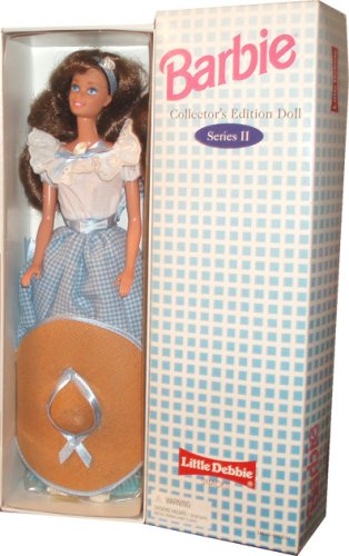 Barbie 1995 Series II Collector's Edition 12 Inch Doll - Barbie as Little Debbie Snacks' Girl with Dress, Sash, Shoes, Hair Ribbon, Hat, Hairbrush and Doll Stand - 1