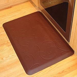 WellnessMats Anti-Fatigue 72 Inch by 24 Inch Bella Motif Kitchen Mat