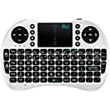 Rii Mini i8 2.4GHz Wireless Entertainment Keyboard with Touchpad for PC, Pad, Andriod TV Box, Google TV Box, Xbox360, PS3 & HTPC/IPTV (White)