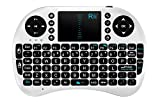 Rii Mini 2.4GHz Wireless Touchpad Keyboard for Android/Google Pad TV, Xbox360, PS3 & HTPC/IPTV, White (i8)