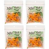2 Martini Golf Tees - 4 Packs Of Orange - 24 Tees Total - Virtually Unbreakable