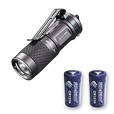 Jetbeam JET-II MK CREE XP-L HI LED Flashlight - 510 Lumens w/2x FREE Eco-Sensa Batteries by Ecosphere