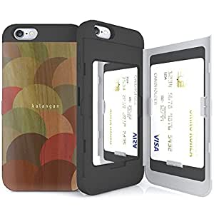 iPhone 6s Case, SKINU [Designer Wood Pattern] [Card Case] [Shockproof] [Dual Layer] [Card Slot] [Drop Protection] [Wallet] with Mirror For iPhone 6 (2014) / 6s (2015) - Balloon
