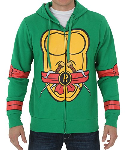 Teenage Mutant Ninja Turtles I Am Raphael Costume Zip Hoodie Size X-Large Color Raphael (Teenage Mutant Ninja Turtle Raphael Adult Mask)