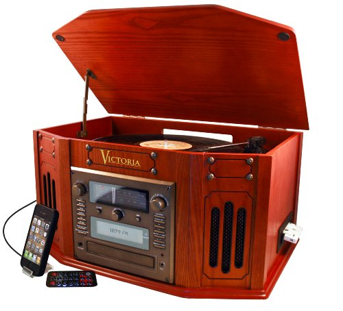 Grace Digital Tunewriter IV -Stereo Entertainment Center with Built in CD burner (Paprika, GDI-TW4CD)