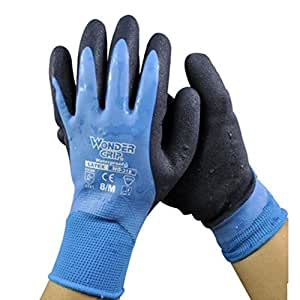 Waterproof non slip dry wet environment fertilization for Gardening gloves amazon