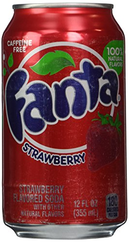 Fanta Strawberry Soda 12oz Cans (Pack of 12)