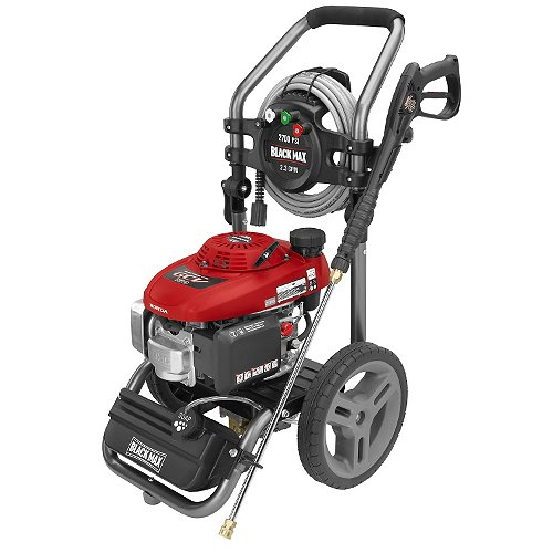 Black Max 2700 Psi Gasoline Pressure Washer Powered By