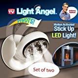 Set of 2 Light Angel Motion Activated Stick Up LED Outdoor Light