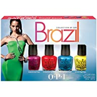 OPI Brazil Nail Polish Collection, Beach Sandies Mini, 4 Count