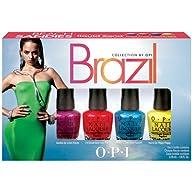 OPI Brazil Nail Polish Collection, Beach Sandies Mini, 4 Count