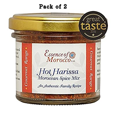 Harissa Moroccan Spice Mix 84 g (Pack of 2 x 42 g. jars) Winner Great Taste Awards 2015
