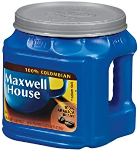Maxwell House 100% Columbian Coffee (Med. Dark) 31.5 oz. (Pack of 2)