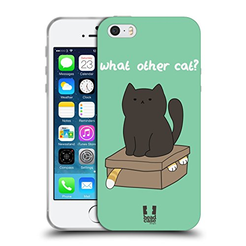 Head Case Designs What Other Cat Ceiling Cat Vs Basement Cat Soft Gel Back Case Cover for Apple iPhone 5 5s