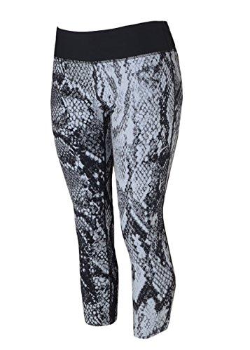 Nike Women's Epic Lux Printed Crop Tight (XL, White/Black)