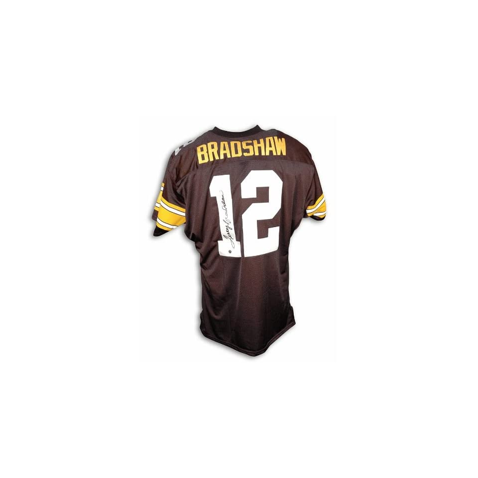 check out 6ad34 40d5b Terry Bradshaw Autographed Uniform Black Throwback ...