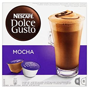 Nescafé Dolce Gusto Mocha 16 Capsules (Pack of 3, Total 48 Capsules/coffee pods, 24 Servings)