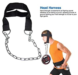 4Fit Nylon Head Harness Neck Strength Head Strap Weight Lifting Exercise Fitness Belt